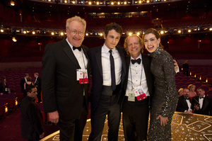 """""""The Academy Awards - 83rd Annual"""" (Telecast) Don Mischer, James Franco, Bruce Cohen, Anne Hathaway02-27-2011 Photo by Richard Harbaugh © 2011 A.M.P.A.S. - Image 24036_0421"""