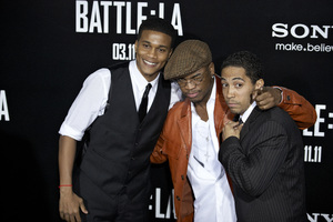 """Battle: Los Angeles"" Premiere  Cory Hardrict, Ne-Yo, Neil Brown Jr. 3-8-2011 / Columbia Pictures / Regency Village Theater / Westwood CA / Photo by Benny Haddad - Image 24037_0124"