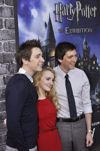 """Harry Potter: The Exhibition""James Phelps, Evanna Lynch, Oliver Phelps4-4-2011 / Discovery Times Square / New York NY / Warner Brothers / Photo by Eric Reichbaum - Image 24044_0018"