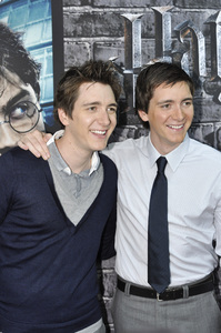 """""""Harry Potter: The Exhibition""""James Phelps, Oliver Phelps4-4-2011 / Discovery Times Square / New York NY / Warner Brothers / Photo by Eric Reichbaum - Image 24044_0020"""