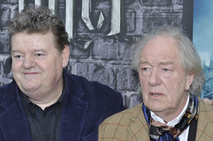 """""""Harry Potter: The Exhibition""""Robbie Coltrane, Michael Gambon4-4-2011 / Discovery Times Square / New York NY / Warner Brothers / Photo by Eric Reichbaum - Image 24044_0064"""