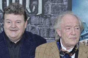 """""""Harry Potter: The Exhibition""""Robbie Coltrane, Michael Gambon4-4-2011 / Discovery Times Square / New York NY / Warner Brothers / Photo by Eric Reichbaum - Image 24044_0065"""