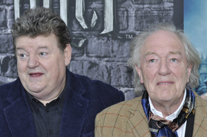 """""""Harry Potter: The Exhibition""""Robbie Coltrane, Michael Gambon4-4-2011 / Discovery Times Square / New York NY / Warner Brothers / Photo by Eric Reichbaum - Image 24044_0066"""