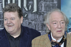 """""""Harry Potter: The Exhibition""""Robbie Coltrane, Michael Gambon4-4-2011 / Discovery Times Square / New York NY / Warner Brothers / Photo by Eric Reichbaum - Image 24044_0067"""