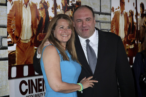 """Cinema Verite"" Premiere Lorraine Bracco, James Gandolfini4-11-2011 / Paramount Theater / Hollywood CA / HBO / Photo by Imeh Akpanudosen - Image 24046_0198"