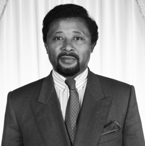 Dr. Jean Ping at the Gabon Presidential Palace in Libreville, Gabon 1989 © 1989 Bobby Holland - Image 24050_0003