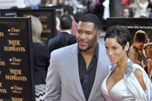"""Water for Elephants"" PremiereNicole Murphy and Michael Strahan4-17-2011 / Ziegfeld Theater / New York NY / Fox 2000 / Photo by Eric Reichbaum - Image 24053_0075"