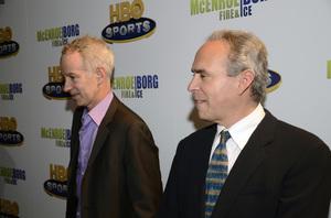 """McEnroe/Borg: Fire & Ice"" PremiereJohn McEnroe, Ross Greenburg6-7-2011 / School of Visual Arts Theater / New York NY / HBO / Photo by Eric Reichbaum - Image 24069_0004"