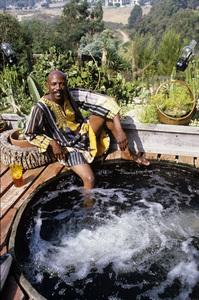 Louis Gossett Jr. at his Malibu home1982 © 1982 Gunther - Image 2407_0204