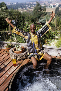 Louis Gossett Jr. at his Malibu home1982 © 1982 Gunther - Image 2407_0205