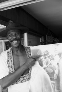 Louis Gossett Jr. at his Malibu home1982 © 1982 Gunther - Image 2407_0216