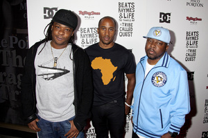 """""""Beats, Rhymes and Life: The Travels of A Tribe Called Quest"""" Premiere After Party Jarobi White, Ali Shaheed Muhammad, Phife Dawg 6-24-2011 / Rolling Stone Restaurant and Lounge / Hollywood CA / Song Pictures Classics / Photo by Imeh Akpanudosen - Image 24078_0070"""