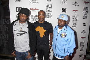 """Beats, Rhymes and Life: The Travels of A Tribe Called Quest"" Premiere After Party Jarobi White, Ali Shaheed Muhammad, Phife Dawg 6-24-2011 / Rolling Stone Restaurant and Lounge / Hollywood CA / Song Pictures Classics / Photo by Imeh Akpanudosen - Image 24078_0071"
