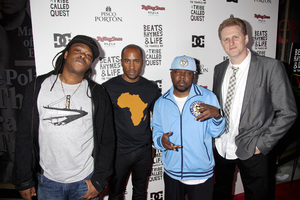 """""""Beats, Rhymes and Life: The Travels of A Tribe Called Quest"""" Premiere After Party Jarobi White, Ali Shaheed Muhammad, Phife Dawg, Michael Rapaport 6-24-2011 / Rolling Stone Restaurant and Lounge / Hollywood CA / Song Pictures Classics / Photo by Imeh Akpanudosen - Image 24078_0072"""