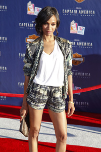 """""""Captain America: The First Avenger"""" Premiere Zoe Saldana7-19-2011 / El Capitan Theater / Hollywood CA / Paramount Pictures / Photo by Imeh Akpanudosen - Image 24083_0106"""