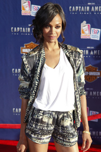 """""""Captain America: The First Avenger"""" Premiere Zoe Saldana7-19-2011 / El Capitan Theater / Hollywood CA / Paramount Pictures / Photo by Imeh Akpanudosen - Image 24083_0107"""