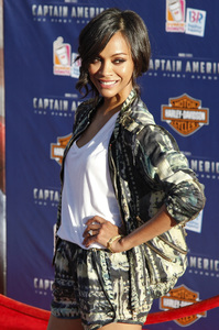 """""""Captain America: The First Avenger"""" Premiere Zoe Saldana7-19-2011 / El Capitan Theater / Hollywood CA / Paramount Pictures / Photo by Imeh Akpanudosen - Image 24083_0110"""