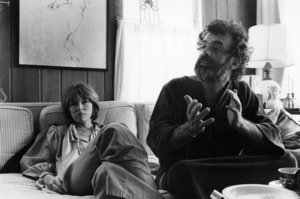 Lee Grant at her Malibu home with her husband, Joseph Feury1978© 1978 Ulvis Alberts - Image 2410_0014