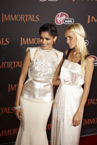 """Immortals"" Premiere Freida Pinto and Isabel Lucas11-7-2011 / Nokia Theater LA Live / Los Angeles CA / Relativity Media / Photo by Benny Haddad - Image 24136_0112"