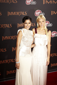 """Immortals"" Premiere Freida Pinto and Isabel Lucas11-7-2011 / Nokia Theater LA Live / Los Angeles CA / Relativity Media / Photo by Benny Haddad - Image 24136_0114"