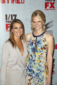 """Justified"" Premiere Natalie Zea, Joelle Carter1-10-2012 / Director"