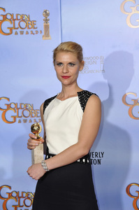 """""""The Golden Globe Awards - 69th Annual"""" (Press Room) Claire Danes1-15-2012 © 2012 Jean Cummings - Image 24150_0015"""