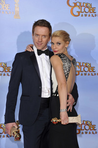 """""""The Golden Globe Awards - 69th Annual"""" (Press Room) Claire Danes, Damian Lewis1-15-2012 © 2012 Jean Cummings - Image 24150_0020"""