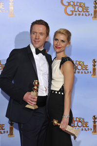 """""""The Golden Globe Awards - 69th Annual"""" (Press Room) Claire Danes, Damian Lewis1-15-2012 © 2012 Jean Cummings - Image 24150_0021"""
