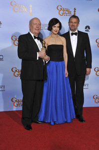 """The Golden Globe Awards - 69th Annual"" (Press Room) Julian Fellowes, Elizabeth McGovern, Hugh Bonneville1-15-2012 © 2012 Jean Cummings - Image 24150_0023"