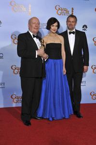 """The Golden Globe Awards - 69th Annual"" (Press Room) Julian Fellowes, Elizabeth McGovern, Hugh Bonneville1-15-2012 © 2012 Jean Cummings - Image 24150_0023"