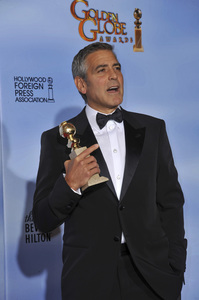 """""""The Golden Globe Awards - 69th Annual"""" (Press Room) George Clooney1-15-2012 © 2012 Jean Cummings - Image 24150_0037"""