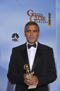 """""""The Golden Globe Awards - 69th Annual"""" (Press Room) George Clooney1-15-2012 © 2012 Jean Cummings - Image 24150_0040"""