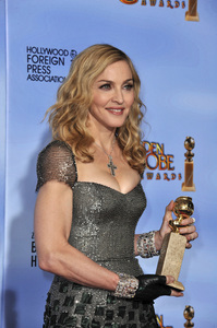 """""""The Golden Globe Awards - 69th Annual"""" (Press Room) Madonna1-15-2012 © 2012 Jean Cummings - Image 24150_0089"""