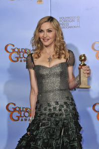 """""""The Golden Globe Awards - 69th Annual"""" (Press Room) Madonna1-15-2012 © 2012 Jean Cummings - Image 24150_0095"""