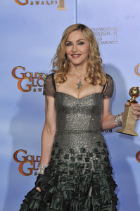 """""""The Golden Globe Awards - 69th Annual"""" (Press Room) Madonna1-15-2012 © 2012 Jean Cummings - Image 24150_0096"""