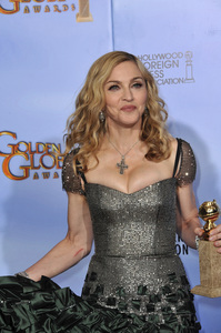 """""""The Golden Globe Awards - 69th Annual"""" (Press Room) Madonna1-15-2012 © 2012 Jean Cummings - Image 24150_0097"""