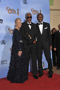 """The Golden Globe Awards - 69th Annual"" (Press Room) Helen Mirren, Morgan Freeman, Sidney Poitier1-15-2012 © 2012 Jean Cummings - Image 24150_0121"