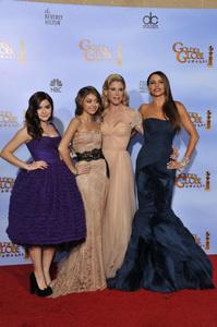 """The Golden Globe Awards - 69th Annual"" (Press Room) Ariel Winter, Sarah Hyland, Julie Bowen, Sofia Vergara1-15-2012 © 2012 Jean Cummings - Image 24150_0125"