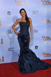 """The Golden Globe Awards - 69th Annual"" (Press Room) Sofia Vergara 1-15-2012 © 2012 Jean Cummings - Image 24150_0135"
