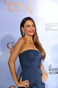 """The Golden Globe Awards - 69th Annual"" (Press Room) Sofia Vergara 1-15-2012 © 2012 Jean Cummings - Image 24150_0136"