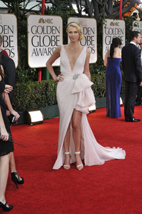 """""""The Golden Globe Awards - 69th Annual"""" (Arrivals) Charlize Theron1-15-2012 © 2012 Jean Cummings - Image 24150_0178"""