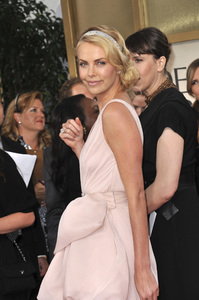 """""""The Golden Globe Awards - 69th Annual"""" (Arrivals) Charlize Theron1-15-2012 © 2012 Jean Cummings - Image 24150_0184"""