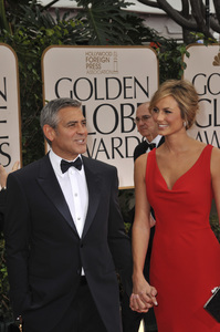 """""""The Golden Globe Awards - 69th Annual"""" (Arrivals) George Clooney, Stacy Keibler1-15-2012 © 2012 Jean Cummings - Image 24150_0194"""