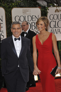 """""""The Golden Globe Awards - 69th Annual"""" (Arrivals) George Clooney, Stacy Keibler1-15-2012 © 2012 Jean Cummings - Image 24150_0195"""