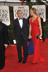 """""""The Golden Globe Awards - 69th Annual"""" (Arrivals) George Clooney, Stacy Keibler1-15-2012 © 2012 Jean Cummings - Image 24150_0196"""