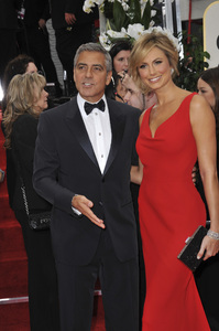 """""""The Golden Globe Awards - 69th Annual"""" (Arrivals) George Clooney, Stacy Keibler1-15-2012 © 2012 Jean Cummings - Image 24150_0197"""