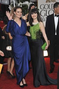 """The Golden Globe Awards - 69th Annual"" (Arrivals) Emily Deschanel, Zooey Deschanel1-15-2012 © 2012 Jean Cummings - Image 24150_0222"