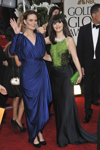 """The Golden Globe Awards - 69th Annual"" (Arrivals) Emily Deschanel, Zooey Deschanel1-15-2012 © 2012 Jean Cummings - Image 24150_0222"