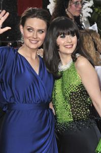 """The Golden Globe Awards - 69th Annual"" (Arrivals) Emily Deschanel, Zooey Deschanel1-15-2012 © 2012 Jean Cummings - Image 24150_0223"