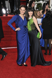 """The Golden Globe Awards - 69th Annual"" (Arrivals) Emily Deschanel, Zooey Deschanel1-15-2012 © 2012 Jean Cummings - Image 24150_0224"